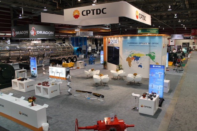 Custom built exhibit for CPTDC for Calgary's Global Petroleum Show