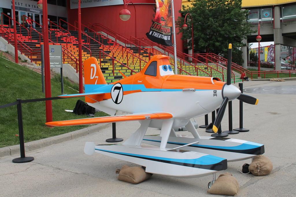 Custom built airplane for Disney's movie, Planes.
