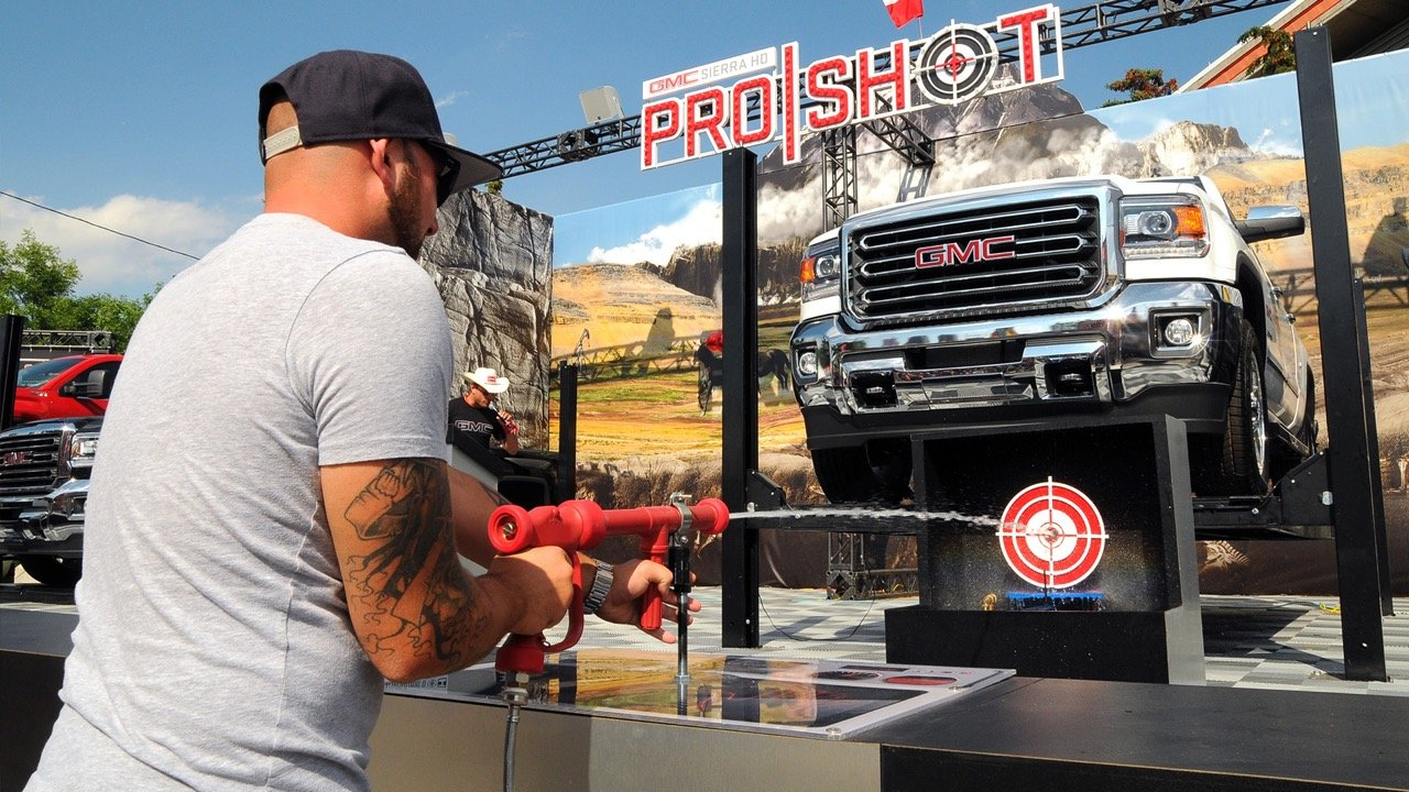 Custom built GMC interactive game at the Calgary Stampede