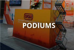 display podiums