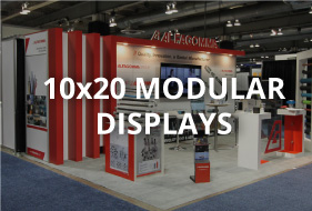 10x20 modular displays button