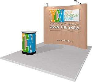10x10 rental pop-up trade show display
