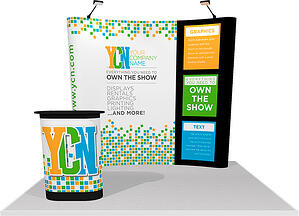 10x10 partial pop-up display with velcro graphics