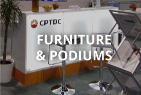 Furniture and podiums