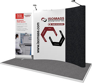 Isomass Pop Up display and Banner Stand
