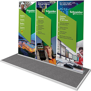 3 retractable banner stands
