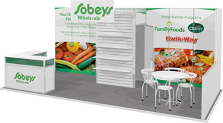 10x20 Octanorm display for Sobey's