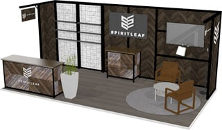Spiritleaf Octanorm 10x20 trade show display