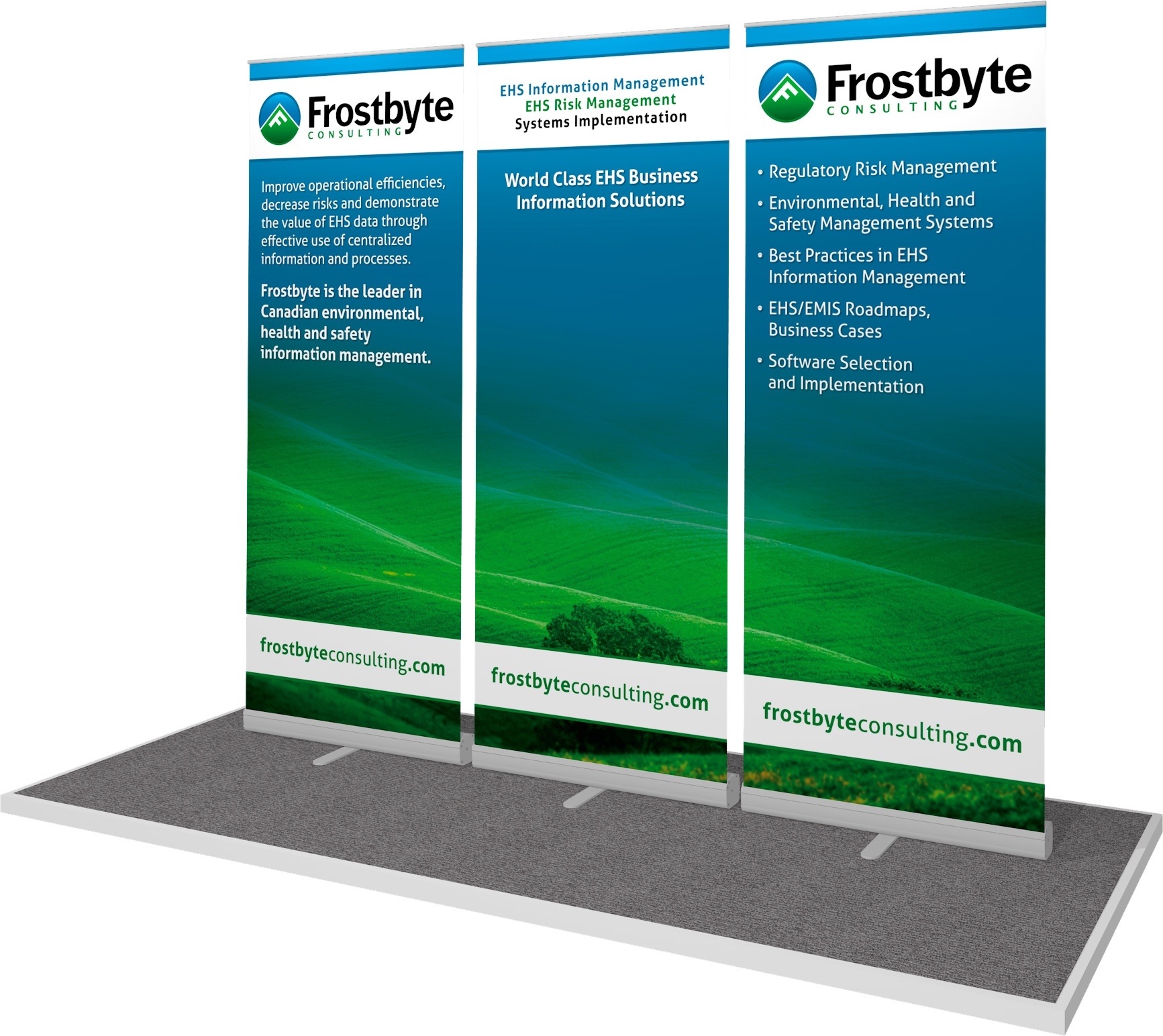 Banner Stands for Frostbyte Consulting