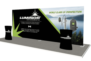 10 x 20 Wave Tube Fabric Display for Luminor Environmental