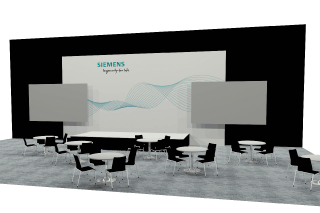 Siemens 30ft Octawall display