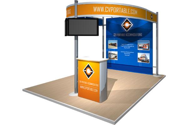C&V Portable Accommodations exhibit display