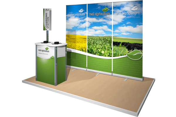 Banner Stands and Podium for Real Agriculture