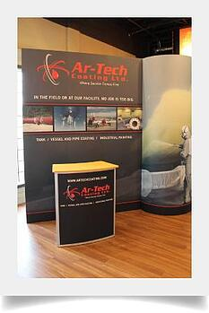 Gridline display and podium for Ar-Tech.