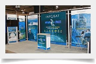 10 x 20 Octanorm display for Infosat