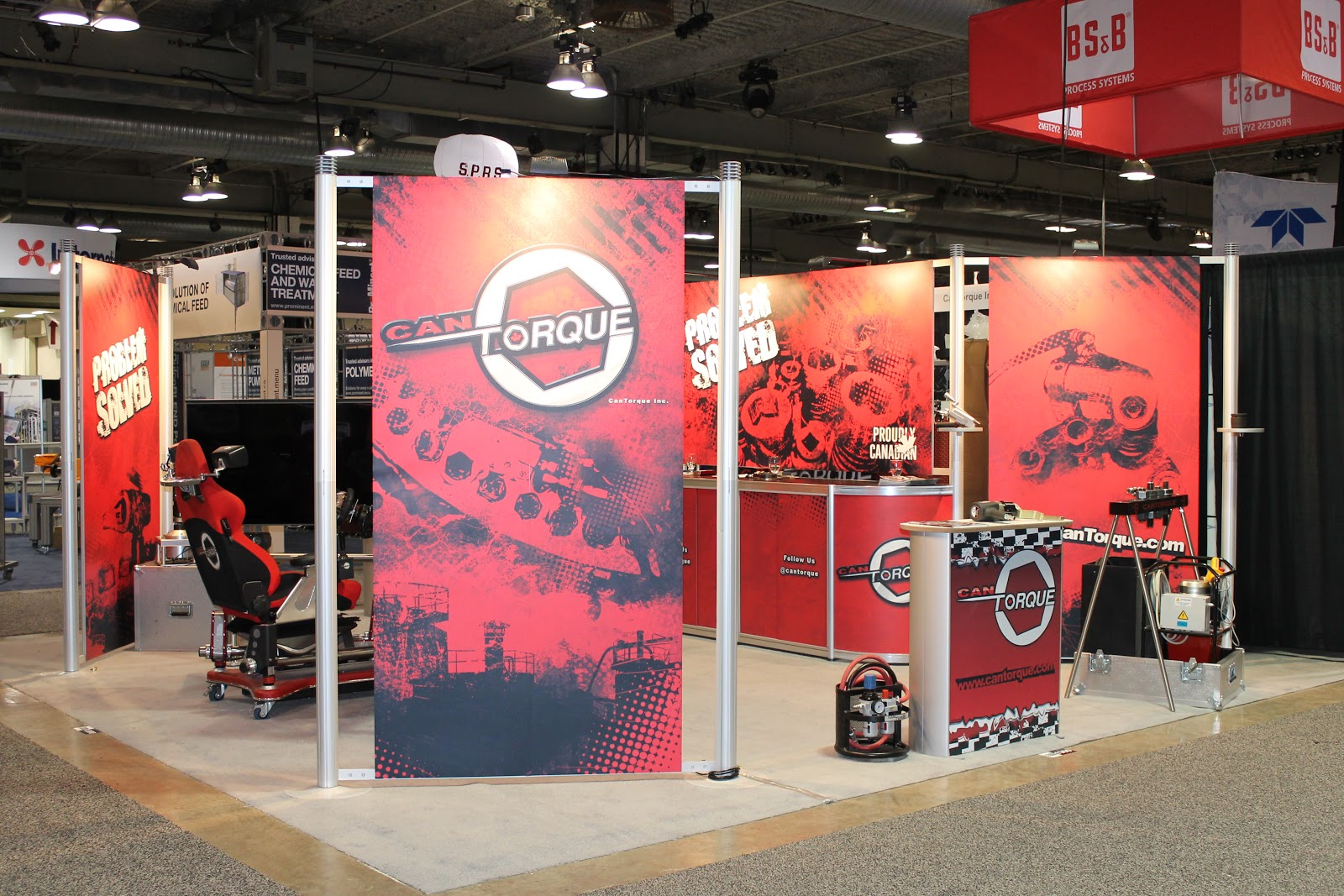20' x 20' Octanorm Exhibit for CanTorque