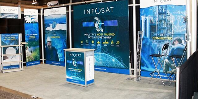 10' x 20' Octanorm Exhibit for InfoSat
