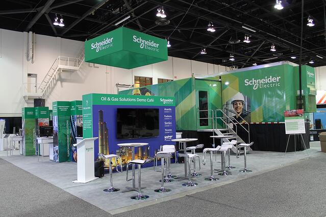 Custom 40' x 55' Exhibit for Schneider Electric