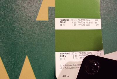 What happens when the printer does not match your Pantone colour? This.