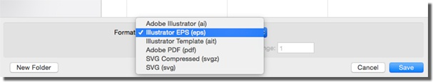 Save for .eps Illustrator dialogue box.