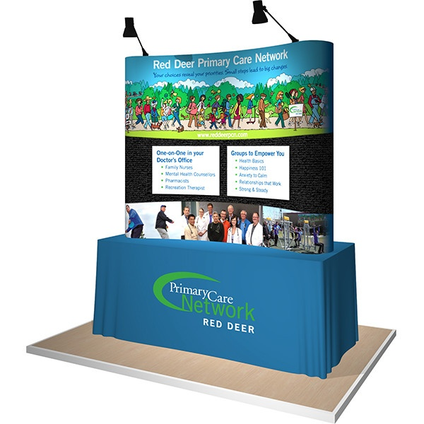 Portable Table Top Pop-Up display with fabric panel options