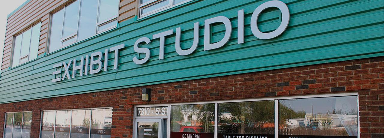 Exhibit Studio building signage