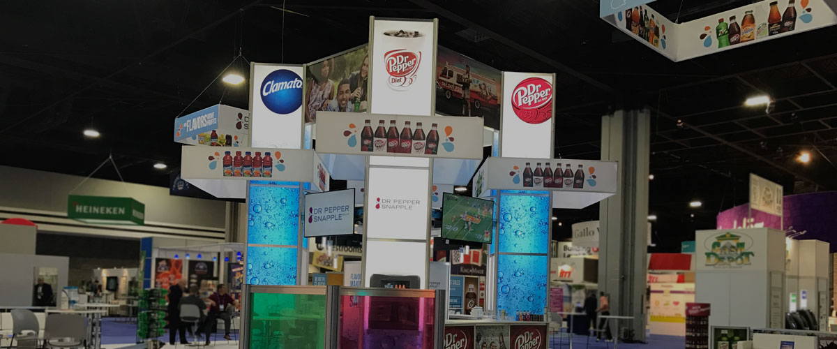 modular trade show displays with full colour graphics and lighting