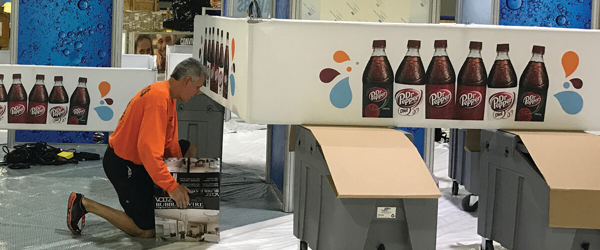 graphic design and production services for exhibits