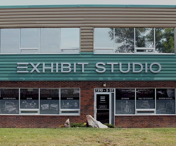 Exhibit Studio outside building 600x500