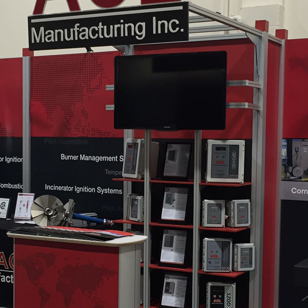 Modular Octanorm trade show display booth