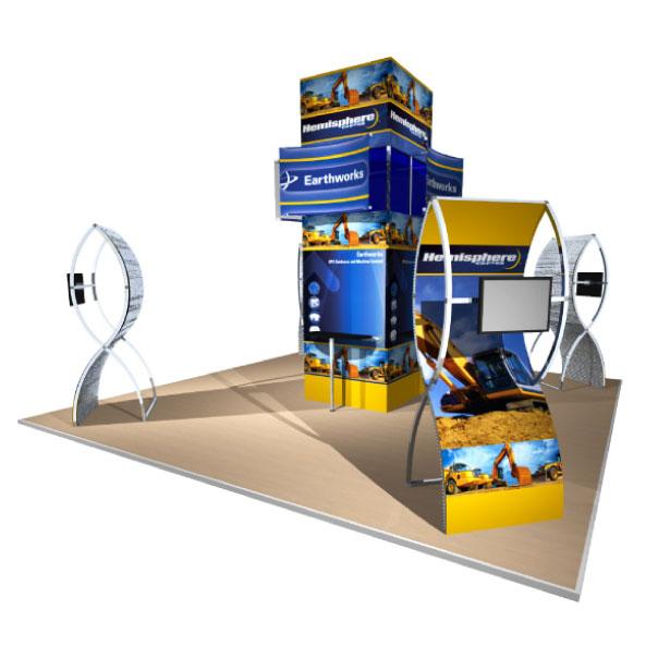 20x20 Gridline Modular Display for Hemisphere