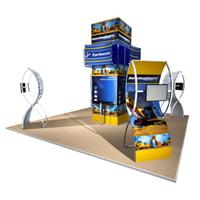 20x20 Gridline modular exhibit display