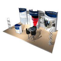 10x20 inline Octanorm modular trade show display