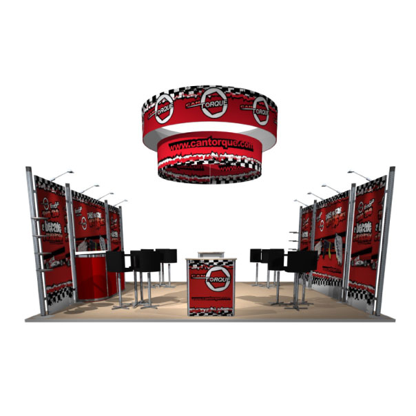 20x20 Octanorm Display for Cantorque with Hanging halo