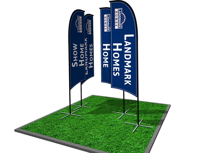 Outdoor flying banners