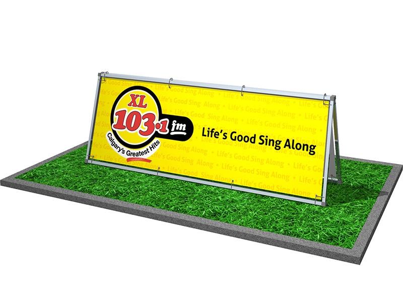 A-frame outdoor sign
