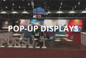 Portable pop-up trade show displays