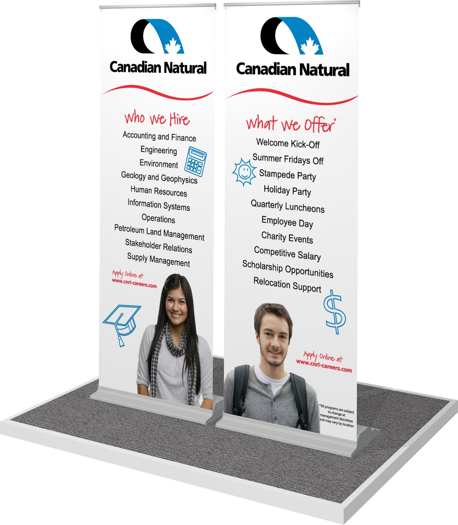 portable banner stand mini me display for CNRL