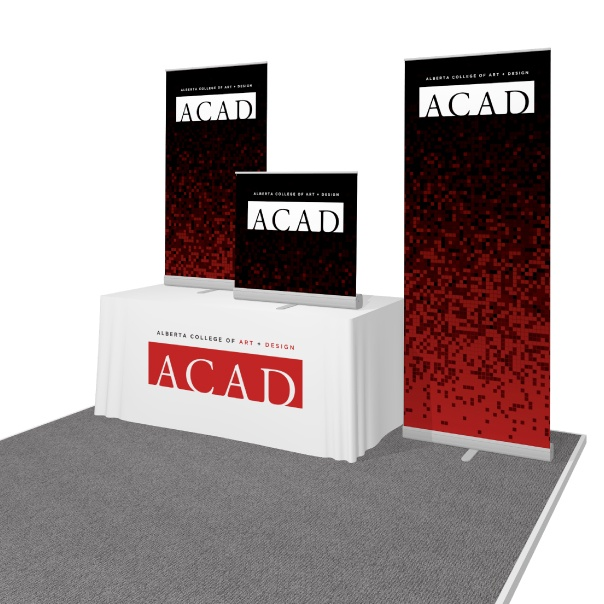 Portable banner stands for ACAD