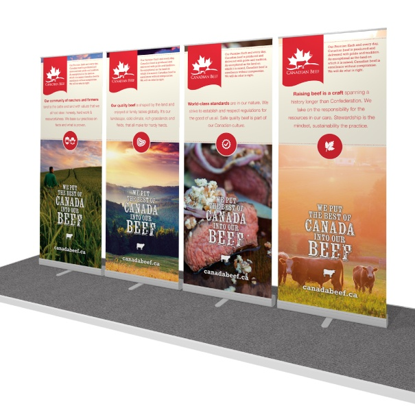 Portable Retractable Banner Stands for Canada Beef