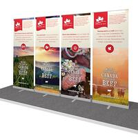 Retractable Banner Stands for portable 10x10 display