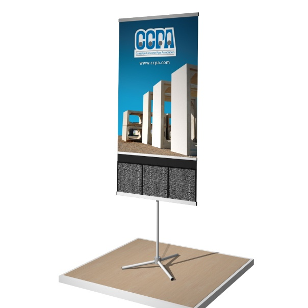 portable dash banner stand for CCPA