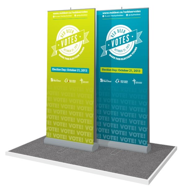 portable  double-sided banner stands