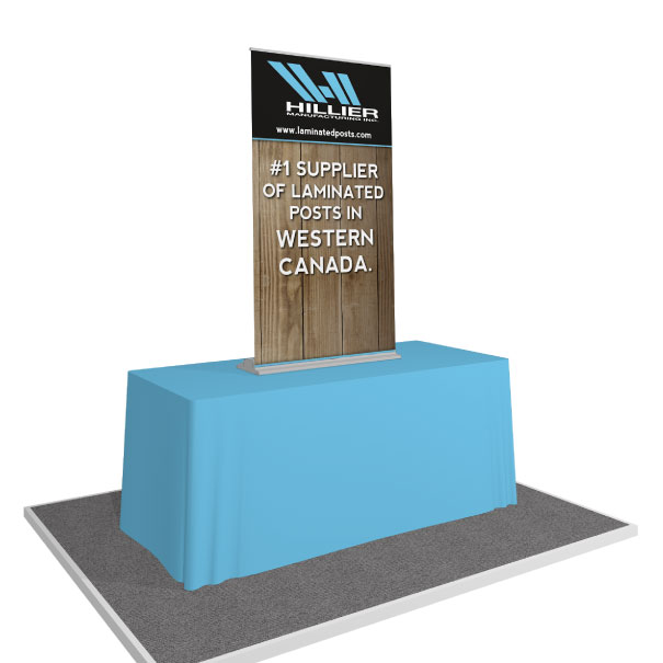 Portable Table Top Banner Stand for Hillier