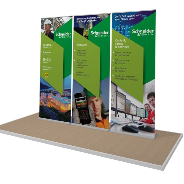 Portable Deluxe Banner Stands for Schneider Electric