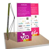 portable x-stand banners for CIRI Gala