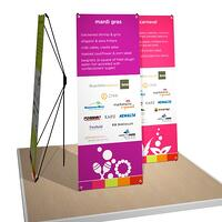 portable x-stand banners for CIRI Gala