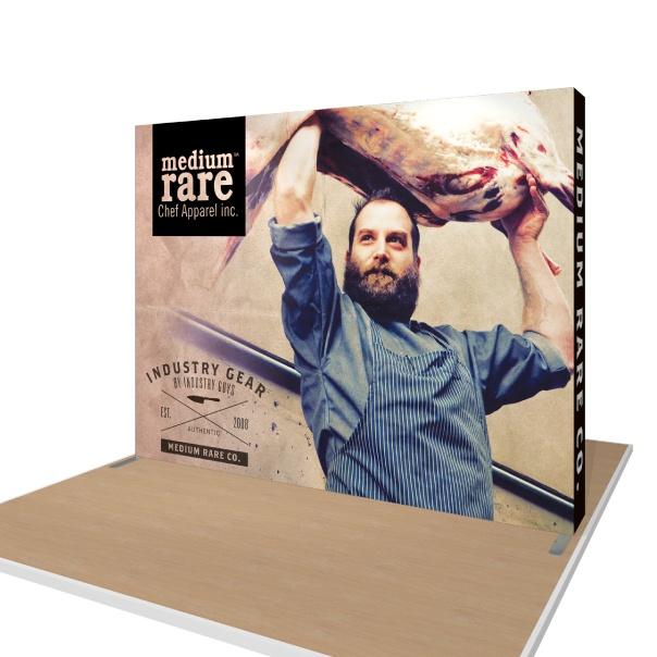 Portable Hop Up Fabric Display