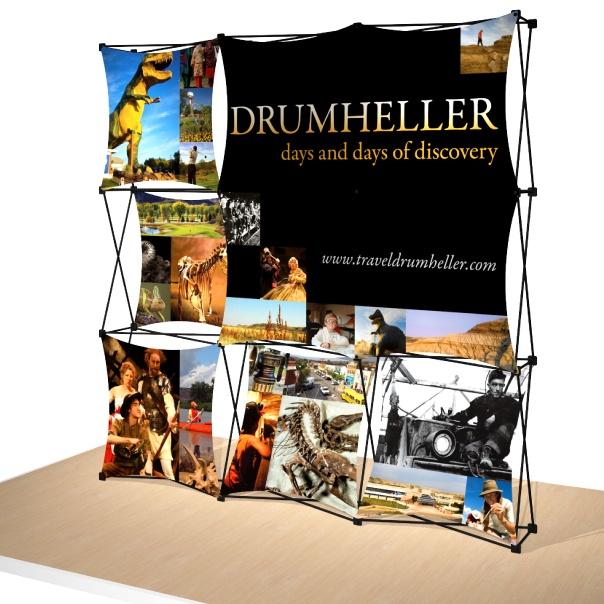 Portable Trade Wind Fabric Display