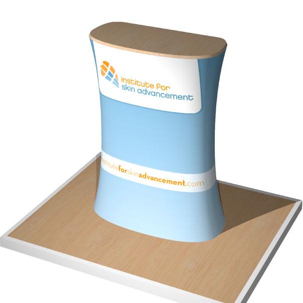 Portable Wave Tube Fabric Podium